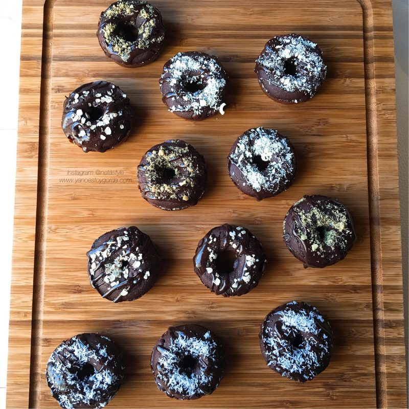 "Donettes de avena doble choc ""fit"" (Donuts fitness)"