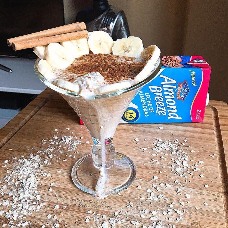"""Overnight oats con leche de almendras y canela """"fit"""""""
