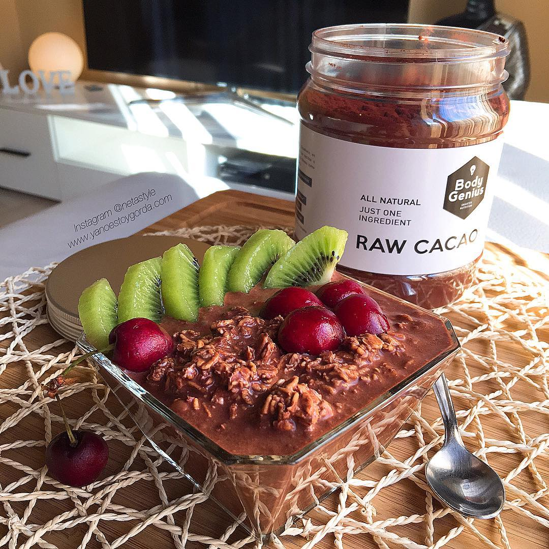 Overnight oats chocolateadas (Gachas de avena)