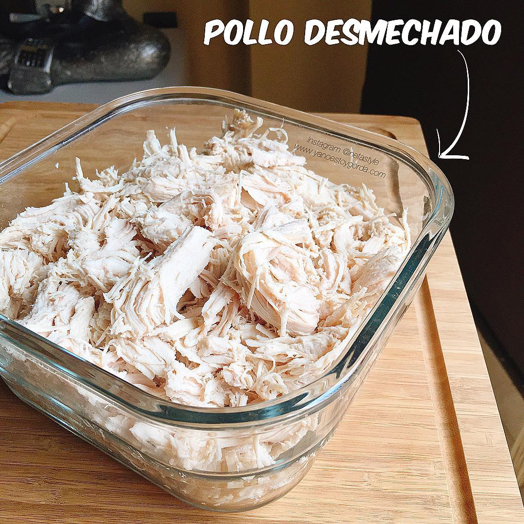 Pollo Desmechado Saludable Yanoestoygorda By Netastyle