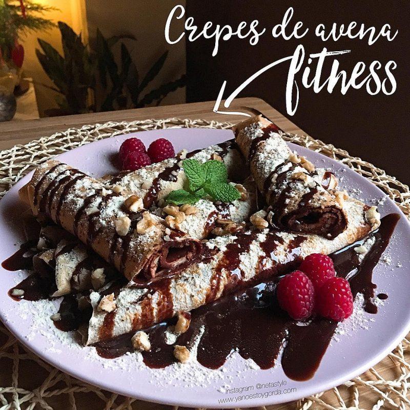 RECETA FITNESS: Crepes de avena rellenas de chocolate
