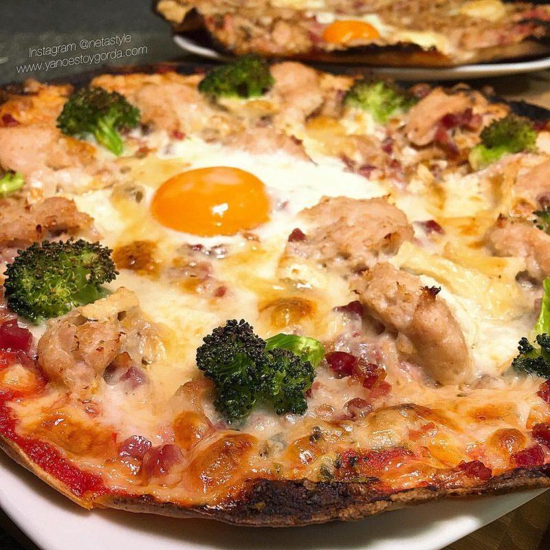 Fajipizza de pollo sabor ibérico y brócoli
