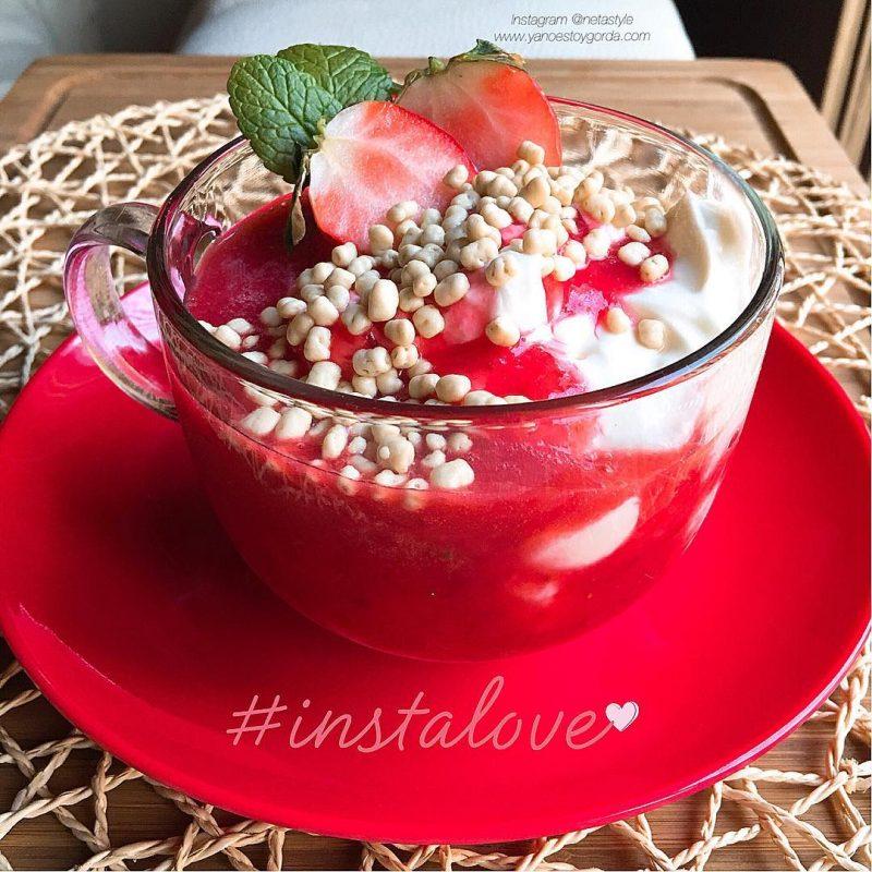 Salsa de fresas natural
