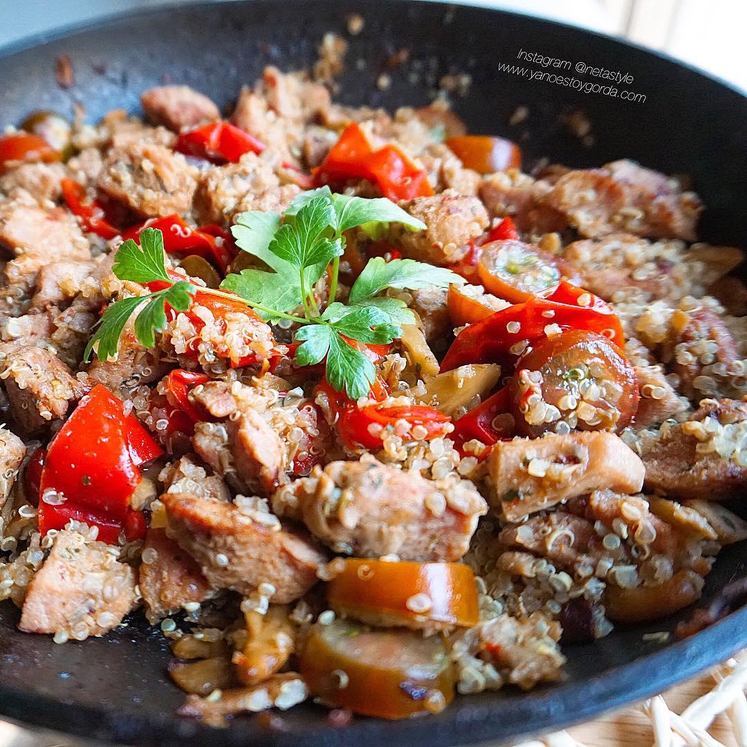 Ragout de pavo con quinoa y verduras