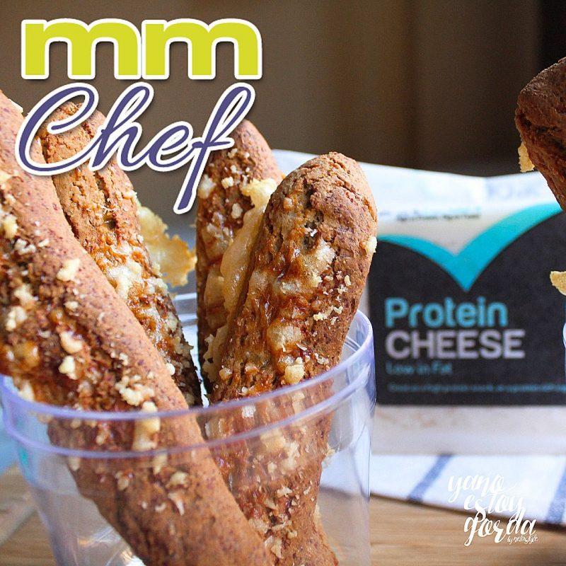 Palitos de avena y queso proteínico