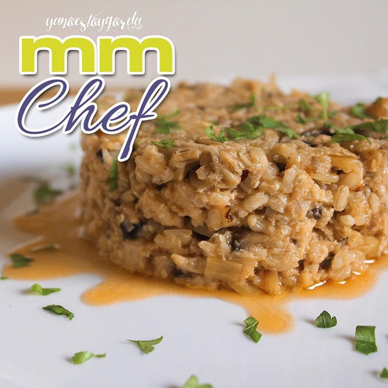 Risotto de arroz integral con salmón