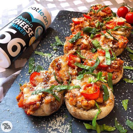 "Champiñones rellenos ""a lo pizza"""