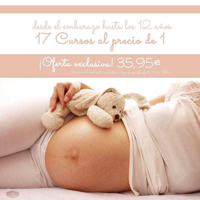 Estupendo pack de 17 cursos de Maternidad a un precio increíble