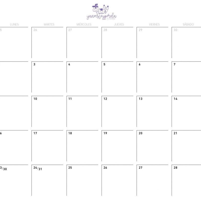 Calendario Julio 2018