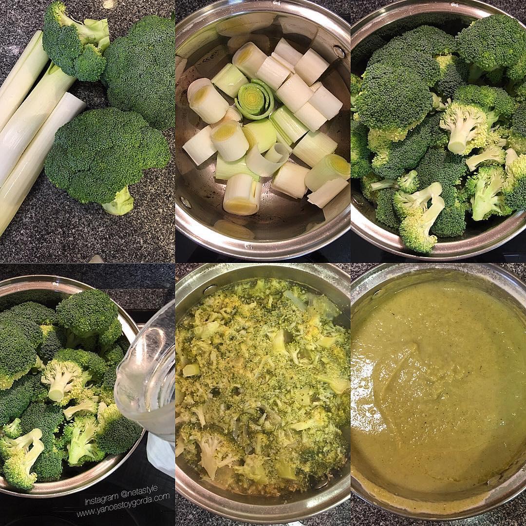 Puré de puerro y brócoli