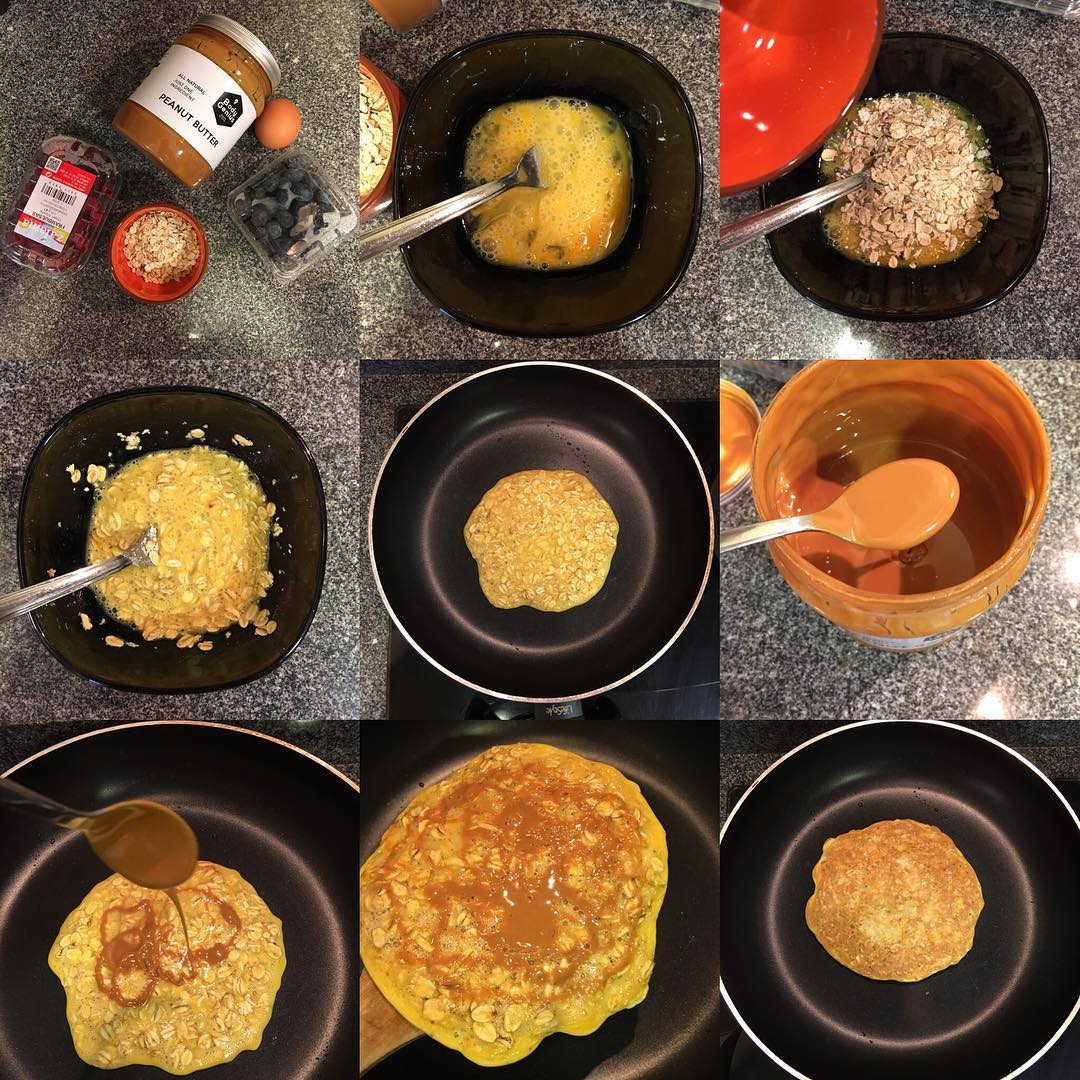 Tortilla de avena con cacahuete